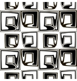 Black and white pattern of stylized squares vector image