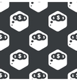 Black hexagon dollar thought pattern vector image vector image