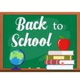 blackboard and back to school concept vector image vector image