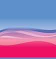 blue and red abstract waves vector image