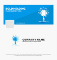 blue business logo template for seo search vector image vector image