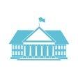 blue house shape vector image