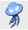 Blue jellyfish with eyes alien character vector image vector image