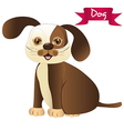 brown dog isolated over whitte background vector image vector image