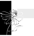 card with flower vector image vector image