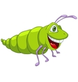 cartoon character caterpillar vector image vector image