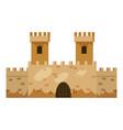 castle construction icon cartoon style vector image vector image