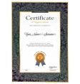 certificate luxury template certificate premium vector image vector image