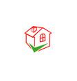 check home logo vector image vector image
