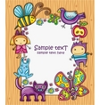 Children cartoon frame vector image
