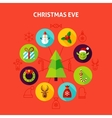 Christmas Eve Infographic Concept vector image vector image