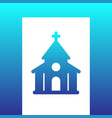 church catholic temple icon vector image vector image
