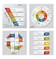 collection of 4 presentation template vector image vector image
