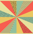 colorful retro background vector image