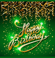 concept party on green dark background top view vector image vector image
