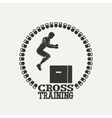 Cross Training man silhouet 3 logo vector image vector image