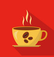 cup of hot coffee cartoon flat icon brazil vector image