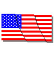 cut stars and stripes vector image vector image