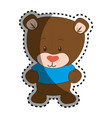 cute bear teddy icon vector image vector image