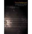 Dark modern hi-tech vector image vector image