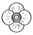 drawing of a flower vector image