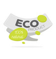 eco icon label organic tags natural product vector image