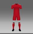 football kit vector image