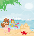 Fun on the beach vector image vector image