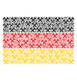 germany flag pattern of hammers icons vector image