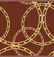 golden chain background vector image vector image