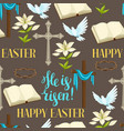 happy easter seamless pattern of decorative vector image vector image