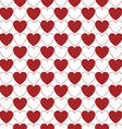 Hearts pattern vector image vector image