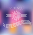 Hipster blur retro vintage label background with vector image