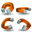 horseshoe magnet set vector image