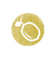 Lemon icon with hand drawn lines texture vector image
