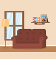 living room flat image design vector image vector image