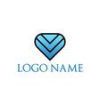 logo template triple arrow down abstract vector image vector image