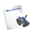 Merry Christmas letter or wish list vector image