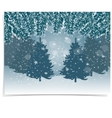 New Year card Blue realistic fir branches with vector image vector image