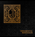 ornamental monogram vector image