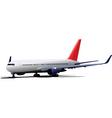 passenger jet plane vector image vector image