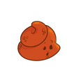 poop cartoon character - surprised emoticon of poo vector image vector image