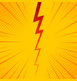 pop art comic background lightning blast halftone vector image