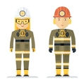 profession coal miner vector image