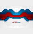 red and blue abstract technology background vector image vector image