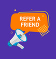 refer a friend concept ad poster card vector image vector image