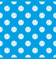 retro volleyball pattern seamless blue vector image vector image