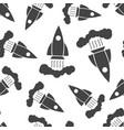 Rocket seamless pattern background business flat