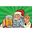 Santa Claus with beer vector image vector image