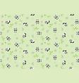 seamless bapattern with panda bear vector image